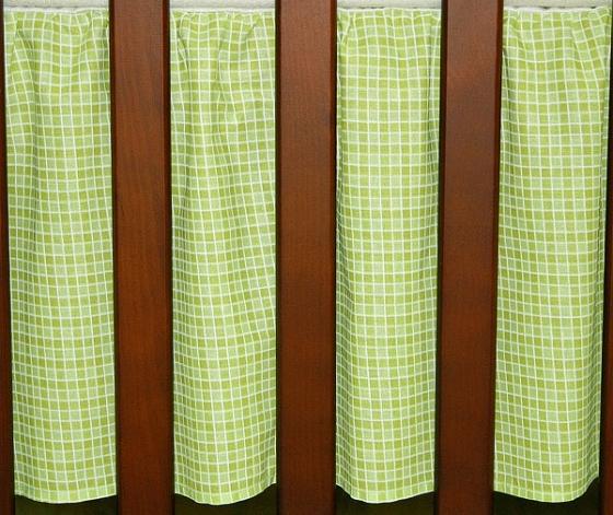 Krásný volánek pod matraci - Kostička zelená