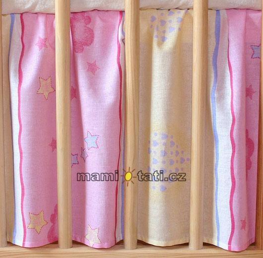 Krásný volánek pod matraci - Medvídek růžový