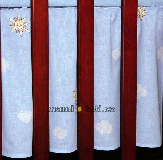 Krásný volánek pod matraci - Městečko modré