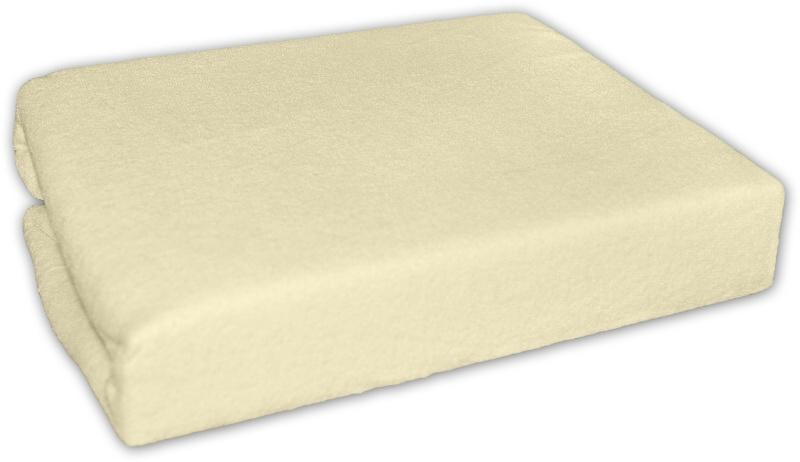 Baby Nellys Froté prostěradlo 140x70cm - krém, žluté