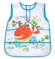 Dětská zástěrka Baby Ono 36m+ - vzor: Velryba, nr.kat. 845, BO