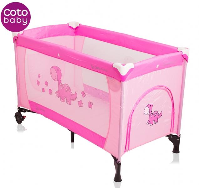 Cestovní postýlka SAMBA DINO CoTo Baby - růžová