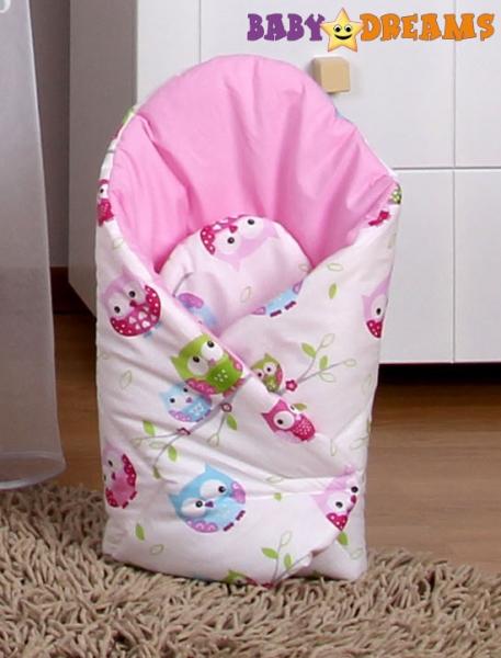 Zavinovačka Kolekce Sovičky - růžové (vzor: Kolekce Sovičky - růžové, s výztuží zád)