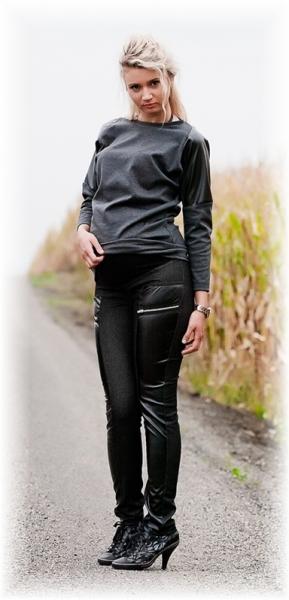 Be MaaMaa Těhotenské kalhoty LAVRA  - černé, vel. L