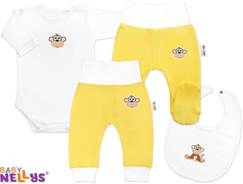 4D sada koj. oblečení Baby Nellys® - Opička krémová