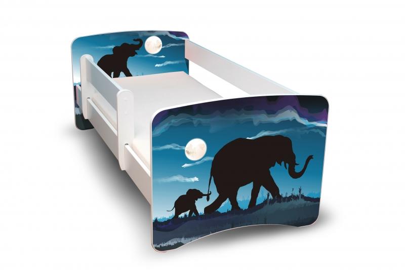 NELLYS Dětská postel s bariérkou Filip - Afrika, II. - 180x80 cm