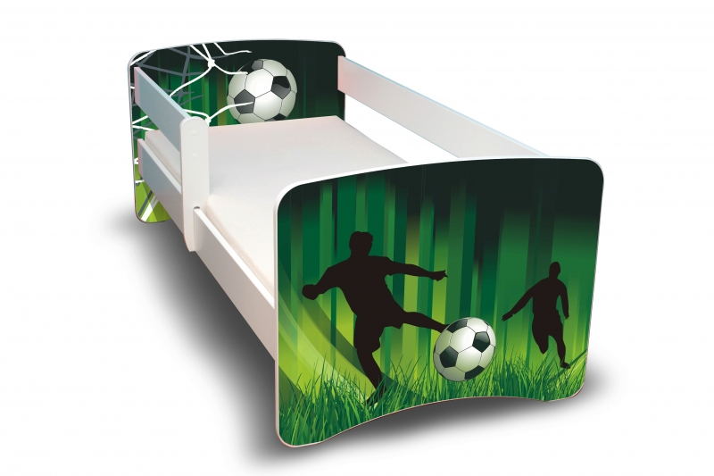 NELLYS Dětská postel s bariérkou Filip - Fotbal II. - 180x80 cm