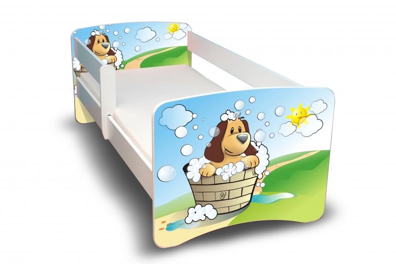 NELLYS Dětská postel s bariérkou Filip - Hafík II. - 180x80 cm