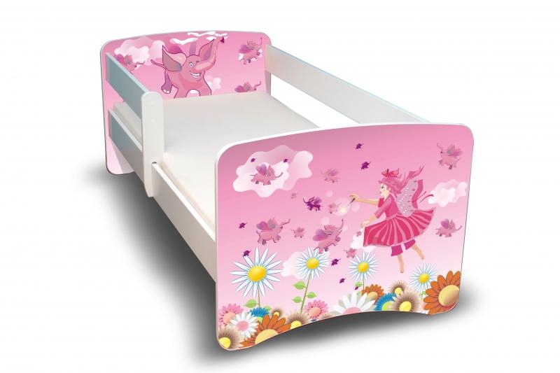 NELLYS Dětská postel s bariérkou Filip - Víla II. - 180x80 cm