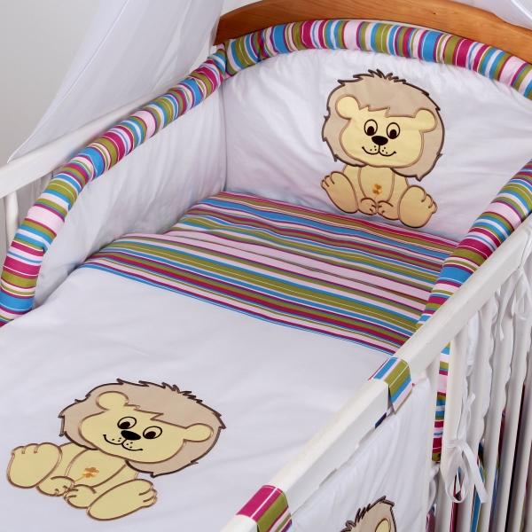 Luxusní povlečení Baby Dreams - SAFARI - LEV - vzor: SAFARI LEV Proužek amarat, rozměr: 135x100, 2D