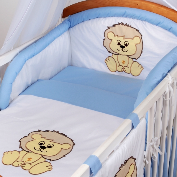Luxusní povlečení Baby Dreams - SAFARI - LEV - vzor: SAFARI LEV Modrá, rozměr: 135x100, 2D