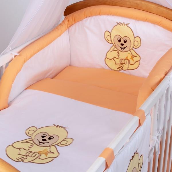 Luxusní povlečení Baby Dreams - SAFARI - OPICE - vzor: SAFARI OPICE Losos, rozměr: 120x90, 2D