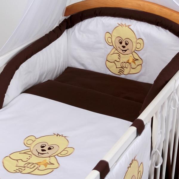 Luxusní povlečení Baby Dreams - SAFARI - OPICE - vzor: SAFARI OPICE Hnědá, rozměr: 120x90, 2D