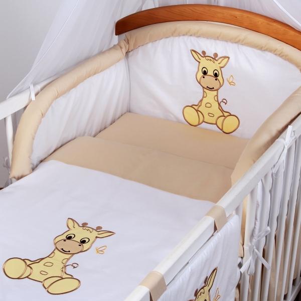 Luxusní povlečení Baby Dreams - SAFARI - ŽIRAFA - vzor: SAFARI ŽIRAFA Béžové, rozměr: 135x100, 2D