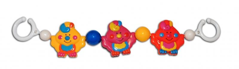 Řetěz do kočárku Kuřátka barevná  Canpol Babies