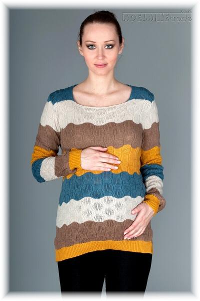 Be MaaMaa Těhotenský svetřík Relay- kakao