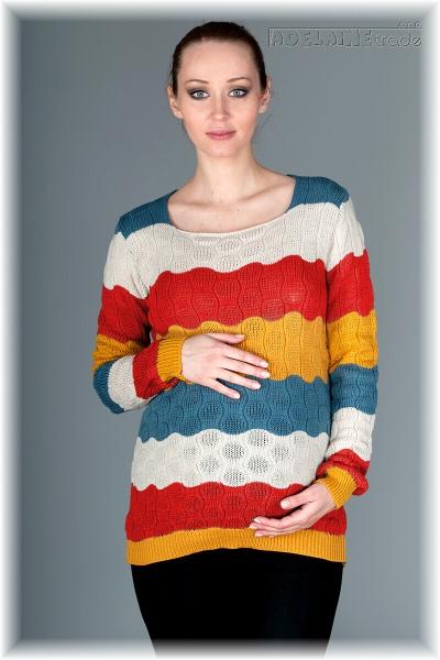Be MaaMaa Těhotenský svetřík Relay - koral/red