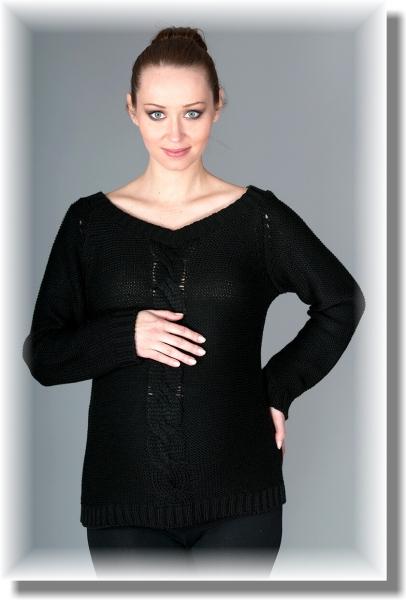 Be MaaMaa Těhotenský svetřík Tia - černý