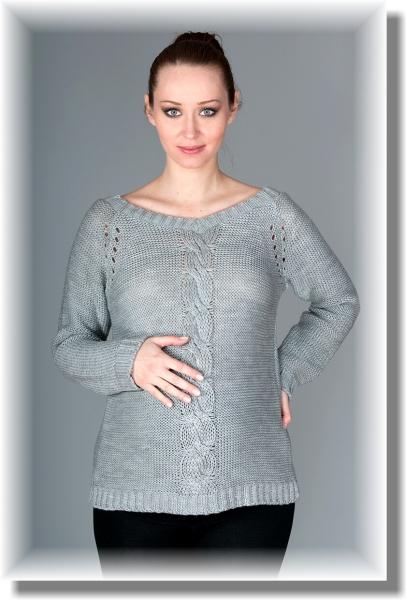 Be MaaMaa Těhotenský svetřík Tia - šedý