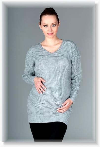 Těhotenský svetřík Roxy - šedý