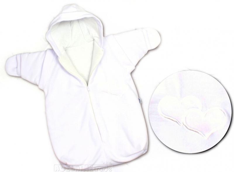 Zimní kombinéza SRDÍČKO - bílá - Velikost: 0-86, barva: bílá