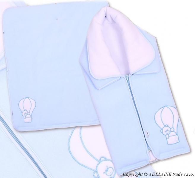 TERJAN Multifunkční deka 3v1 Medvídek - modrá