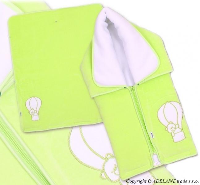 Multifunkční deka 3v1 MEDVÍDEK - zelená