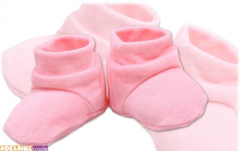 Botičky/ponožtičky VELUR - sv. růžové