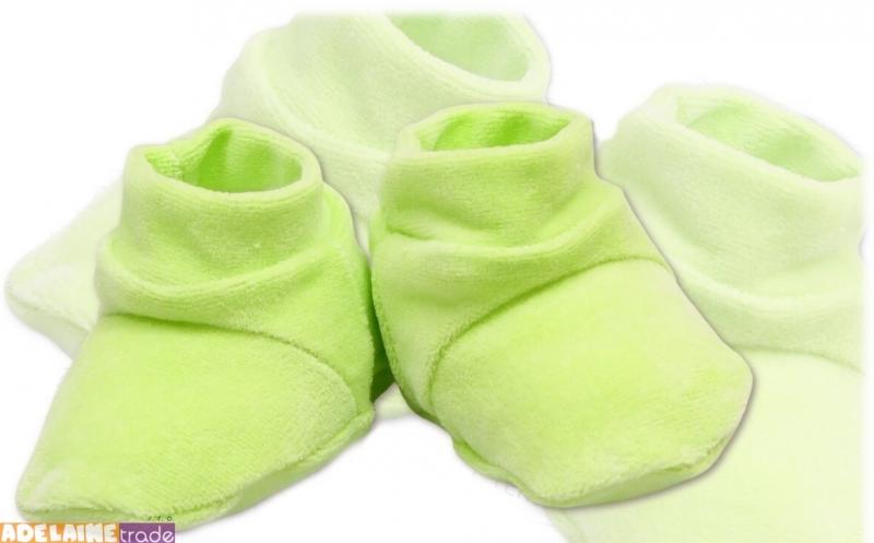 TERJAN Botičky/ponožtičky VELUR - zelené