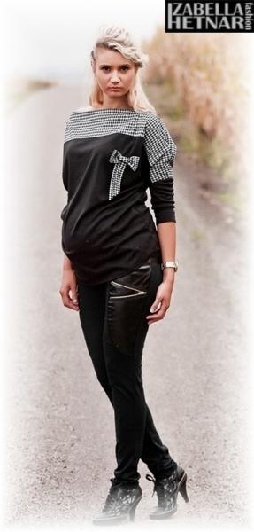 Be MaaMaa Těhotenské kalhoty ZOE  - černé