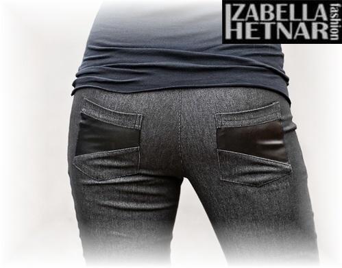 Be MaaMaa Těhotenské kalhoty/jeans NANA  - černý jeans