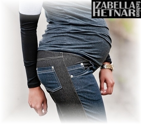 Be MaaMaa Těhotenské kalhoty/jeans KORINA