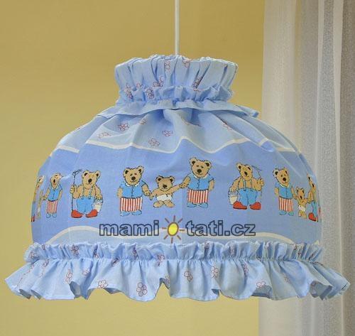 Lustr do dětského pokojíčku - Městečko modré