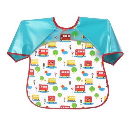 Dětská zástěrka Baby Ono 24m+ - vzor: Autobusy, nr.kat. 871, BO