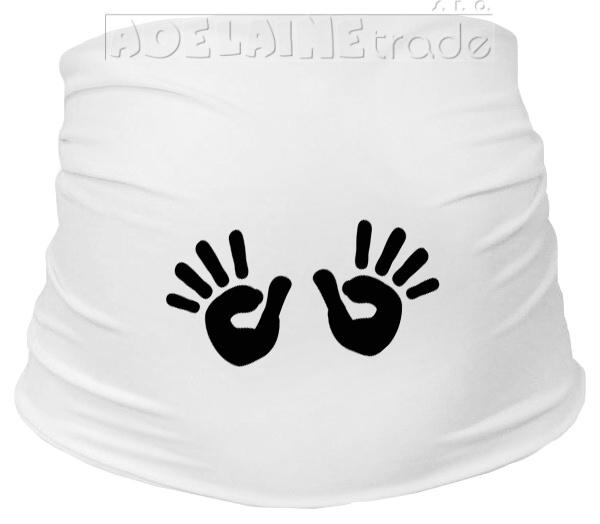Mamitati Těhotenský pás s ručičkami, vel. L/XL - bílý, B19