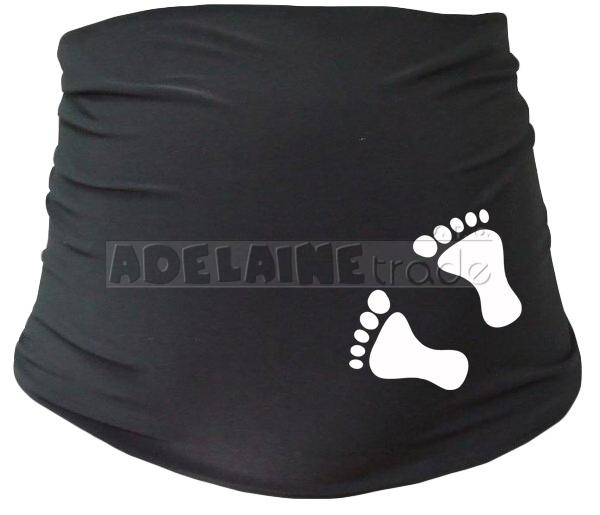 Těhotenský pás s nožičkami, vel. L/XL - černý