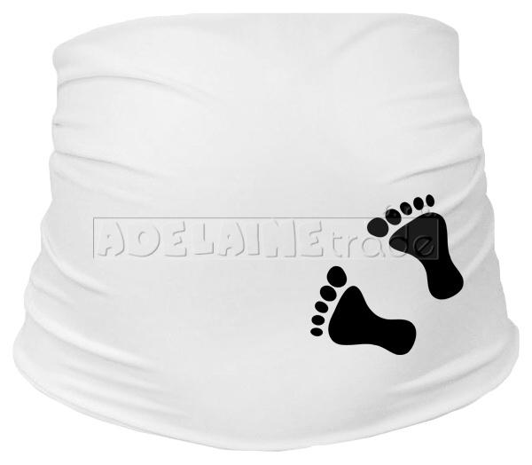 Těhotenský pás s nožičkami - bílý