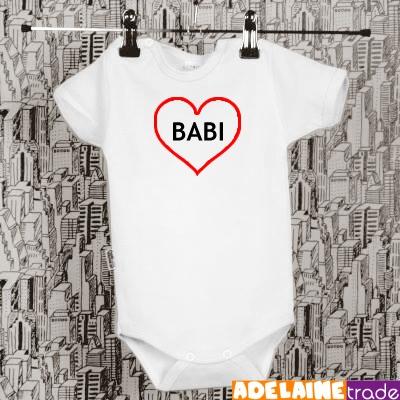 Baby Dejna Body kr. rukáv  SRDÍČKO BABI - bílé