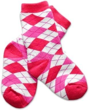 Bavlněné froté ponožky 12m+ - kárko růžové - barva: Kárko růžové , nr.kat. 583/03, 12m+, BO