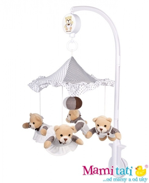 Kolotoč nad postýlku Canpol Babies - Medvídci pod deštníkem