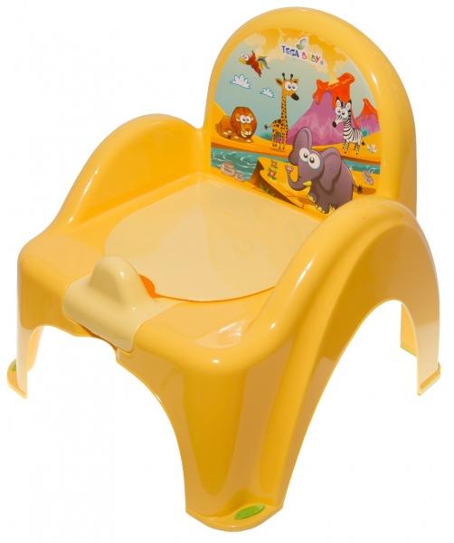Nočník/židlička Safari - žlutý