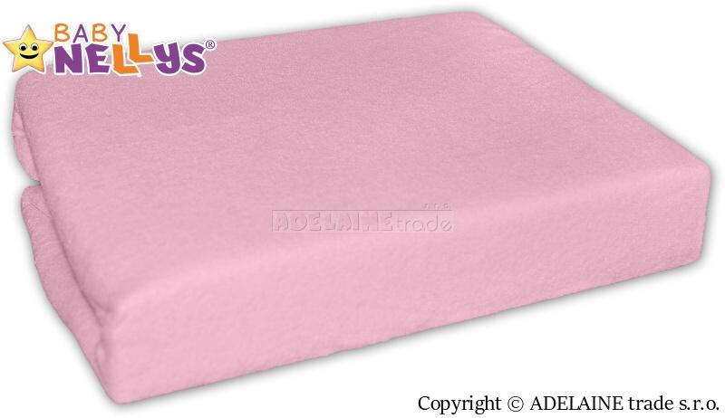 Baby Nellys Nepromokavé prostěradlo 120x60cm - sv. růžové