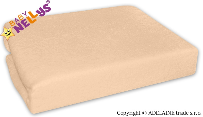 Nepromokavé prostěradlo Baby Nellys ® - Meruňka,losos (Rozměr 120x60cm)