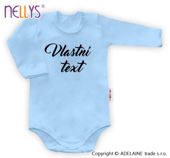 Baby Dejna Body s vlastním textem - modré