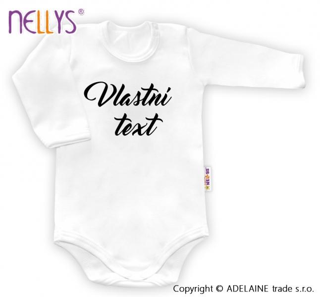 Baby Dejna Body s vlastním textem - bílé