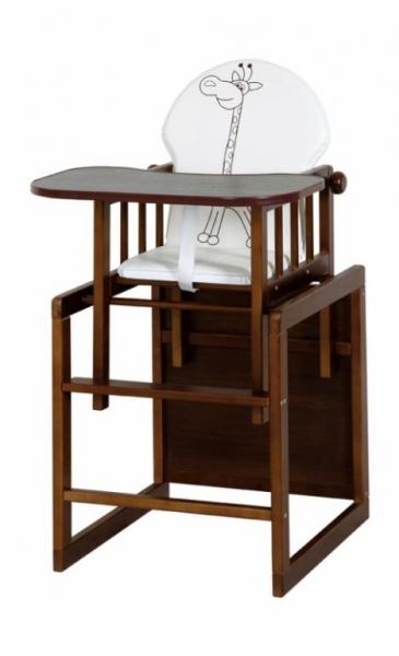 Jídelní stoleček Anežka III., ořech (motiv: Safari Žirafka, ořech)