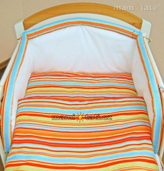 Lustr do dětského pokojíčku - Veselý proužek pomeranč