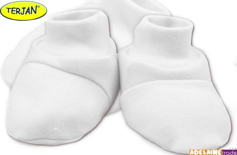 Botičky/ponožtičky BAVLNA - bílé