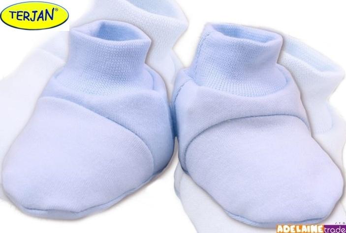 TERJAN Botičky/ponožtičky BAVLNA - sv. modré
