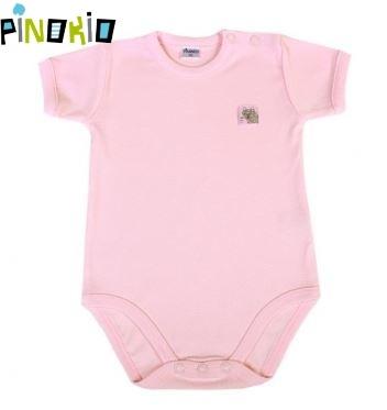 Body kr.rukáv PINOKIO - růžové, Velikost: 86 (12-18m)